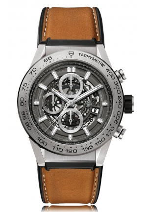 CARRERA CALIBER HEUER 01 SKELETON MENS WATCH CAR2A8A.FT6072, 45MM