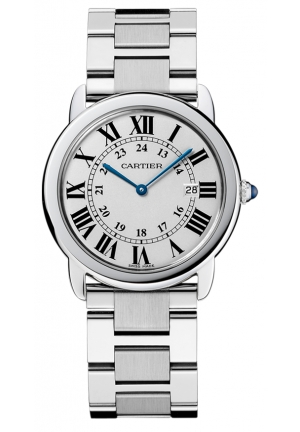 CARTIER Ronde solo watch, large model Quartz 36 mm