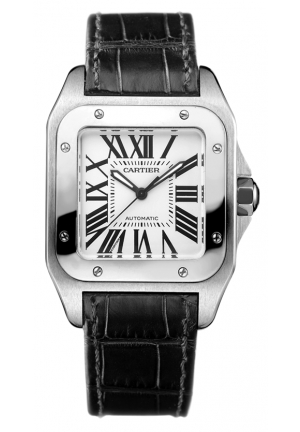 CARTIER Santos 100 watch, medium model Automatic, 44.2 mm x 35.6 mm