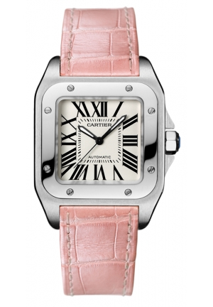 CARTIER Santos 100 watch, medium model Automatic 44.2 mm x 35.6 mm