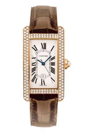 CARTIER Tank Américaine watch, medium model Automatic 41.6x22.6mm