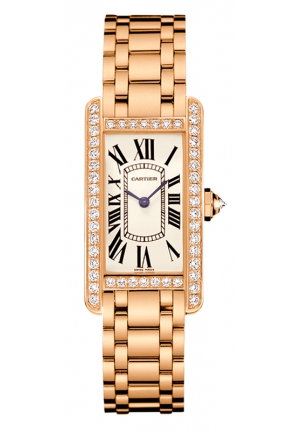 CARTIER Tank Américaine watch, small model Quartz WB7079M5 19 mm x 35 mm