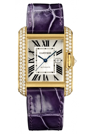 CARTIER Tank Anglaise watch, medium model Automatic WT100017 39.2 mm x 29.8 mm