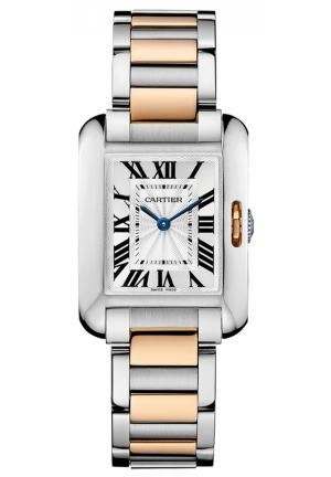 CARTIER Tank Anglaise watch, medium model Automatic W5310007 39.2 mm x 29.8 mm