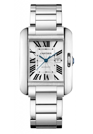 CARTIER Tank Anglaise watch, medium model Automatic 39.2 mm x 29.8 mm