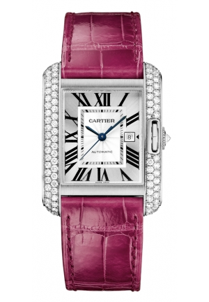 CARTIER Tank Anglaise watch, small model Quartz WT100018 30.2 x 22.7 mm