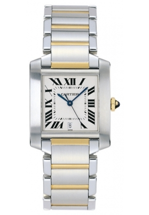 CARTIER Tank Française watch, large model Automatic 36.5 mm x 28.15 mm