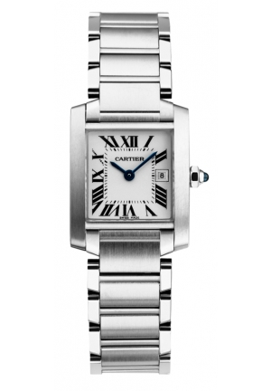 CARTIER Tank Française watch, medium model Quartz 30.4 mm x 25.05 mm