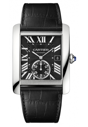 CARTIER Tank MC watch Automatic, steel 34.3 x 44.0 mm