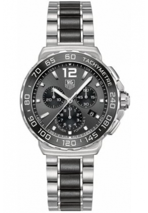 TAG Heuer Watch, Men's Swiss Chronograph Formula 1 Black Ceramic Bracelet 42mm CAU1115.BA0869