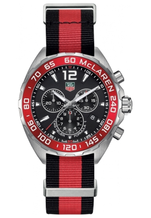 FORMULA 1 RED AND BLACK STAINLESS STEEL WATCH 42MM,CAZ1112.FC8188