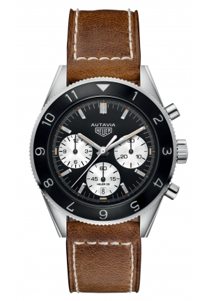 TAG HEUER HERITAGE AUTAVIA AUTOMATIC CHRONOGRAPH CALIBRE HEUER 02 CBE2110.FC8226 , 42MM