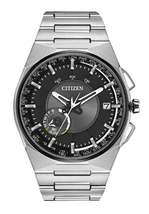 Citizen Men's Eco-Drive Satellite Wave F100 Titanium GPS Japanese Quartz Watch with Black Dial Analog Display and Stainless Steel Band