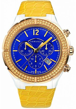 Ceramic and Rose Gold Ion-Plated Yellow Leather Watch 42mm