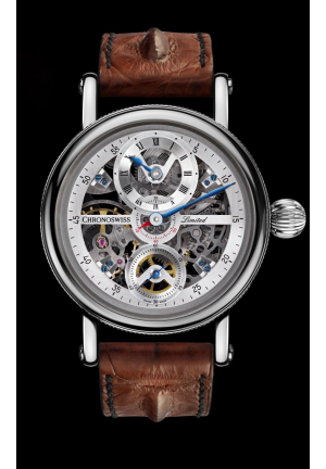 SIRIUS FLYING GRAND REGULATOR SKELETON CH-6723S-SISI, 44MM