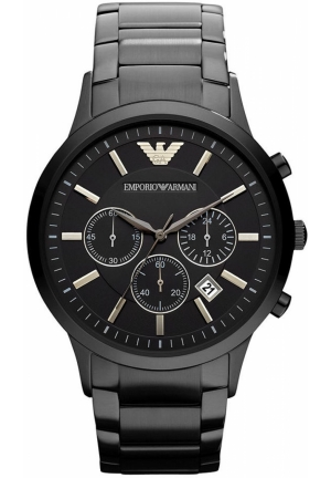 Chronograph Black Ion Plated Stainless Steel Bracelet 43mm