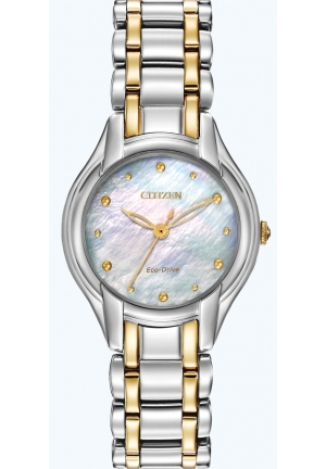 CITIZEN Silhouette Analog Display Japanese Quartz Two Tone Watch 27mm