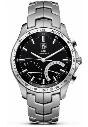 TAG Heuer Men's Link Calibre S Stainless Steel Chronograph 1/100th Watch 42mm CJF7110.BA0592
