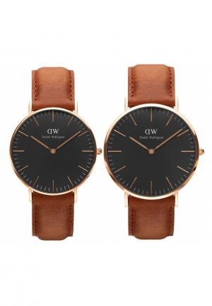 CLASSIC BLACK DURHAM COUPLE WATCH