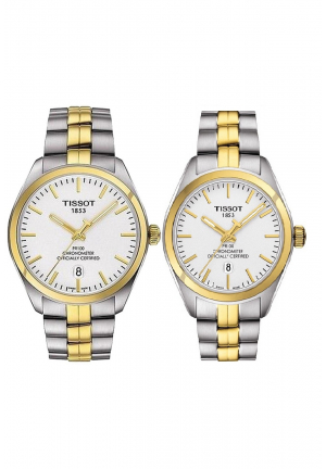COUPLE TISSOT TWO TONE T1014512203100 - T1012512203100