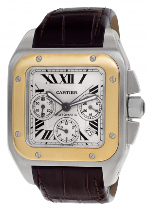 Cartier Santos 100 XL Chronograph in 18K Half Yellow Gold