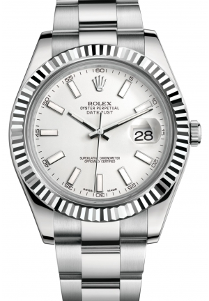 DATEJUST II Oyster steel and white gold , M116334-0006 41 mm