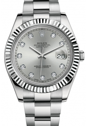 DATEJUST II Oyster steel and white gold , M116334-0007 41 mm