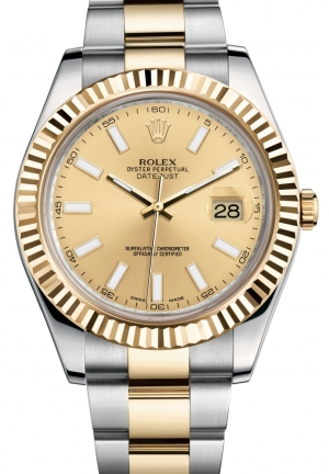 DATEJUST II Oyster steel and yellow gold , M116333-0006 41 mm
