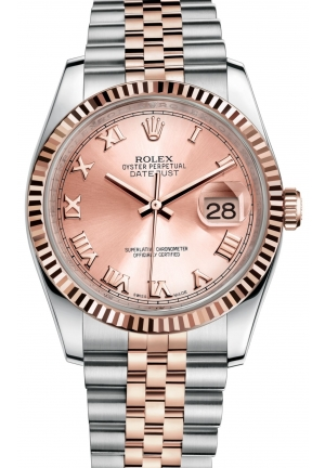 DATEJUST Oyster steel and Everose gold , M116231-0089 36 mm
