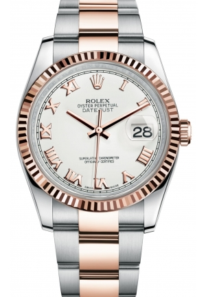 DATEJUST Oyster steel and Everose gold , M116231-0092 36 mm