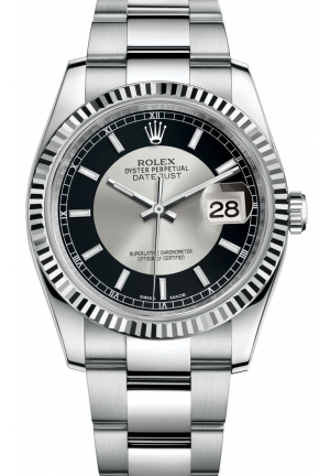 DATEJUST Oyster steel and white gold , M116234-0152 36 mm