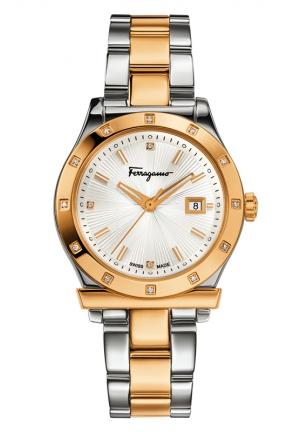 Diamond-Accented Two-Tone Stainless Steel Watch 33mm