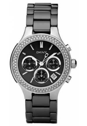 DKNY Broadway Ceramic Glitz Chronograph Black Dial Women's watch 35mm