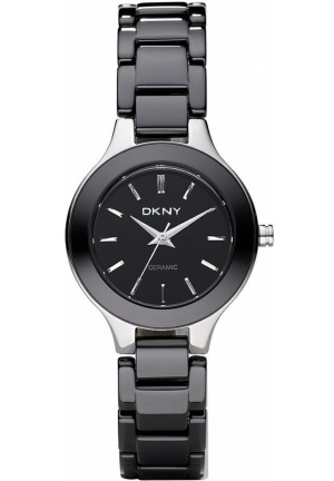 DKNY Broadway Women's Black Ceramic Bracelet 30mm