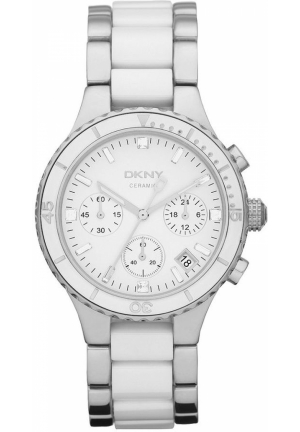 DKNY Broadway Women's Chronograph Stainless Steel Ceramic Bracelet 38mm