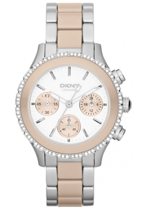DKNY Brooklyn Ladies Ceramix Watch 42mm