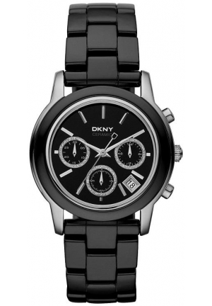 DKNY Ceramic Chronograph Black Dial Women's watch 39mm