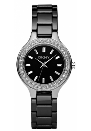 DKNY Ceramic Crystal Bezel Bracelet Watch 30mm