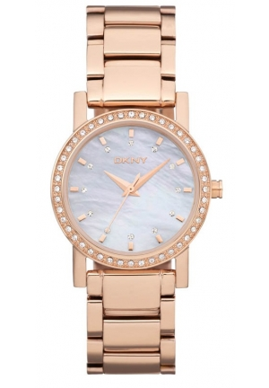 DKNY Lexington Women's Pink Stainless-Steel Quartz Watch with Silver Dial 29mm
