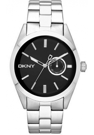 DKNY Nolita Black Silver Steel Men's watch 46mm