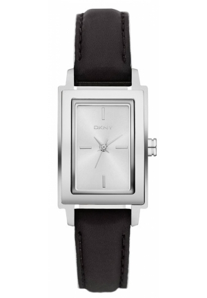 DKNY Park Avenue Rectangular Leather Strap Watch 23mmx28mm