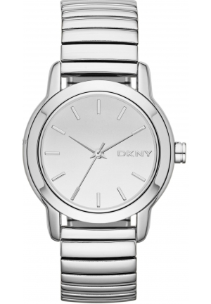 DKNY Park Avenue Silver Tone Expansion Bracelet Watch 34mm