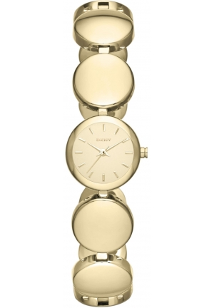 DKNY Roundabout Link Watch (Gold Mirror) - Jewelry 15mm