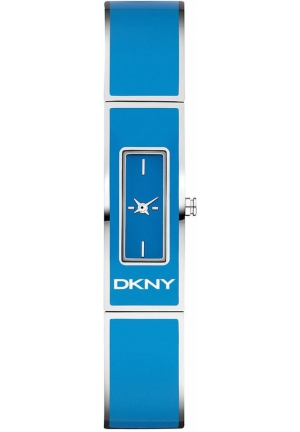 DKNY Women's Blue Enamel and Stainless Steel Bangle Bracelet 33x13mm