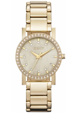 DKNY Women's Goldtone Ion Plated Stainless Steel Bracelet 30mm