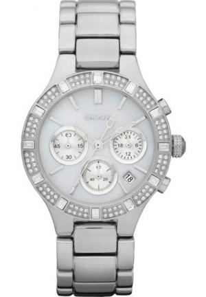 DKNY Women's Quartz Watch Broadway Chrono with Metal Strap 38mm