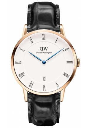 DANIEL WELLINGTON DAPPER READING MEN'S LEATHER STRAP WATCH 38MM DW00100107