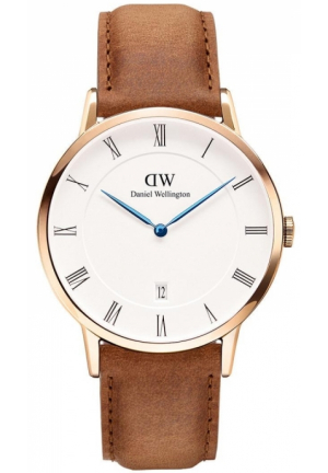 DANIEL WELLINGTON DAPPER DURHAM MEN'S LEATHER STRAP WATCH 38MM DW00100115