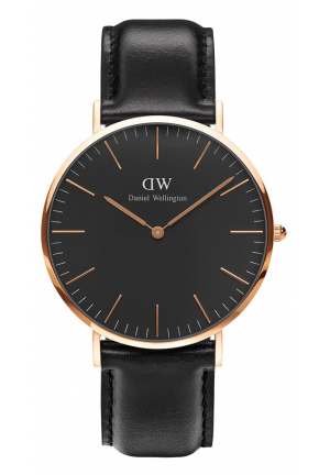 CLASSIC BLACK ROSE GOLD 40MM DW00100127