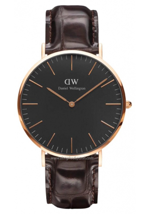 CLASSIC brown ROSE GOLD 40MM DW00100128